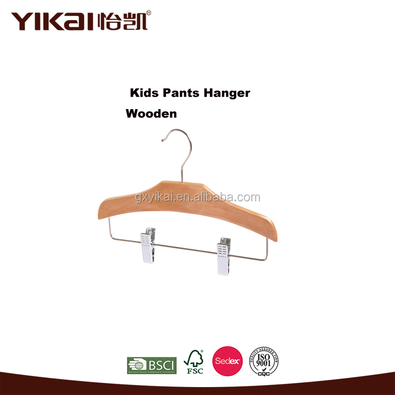 YIKAI cute baby set wooden hangers for garments