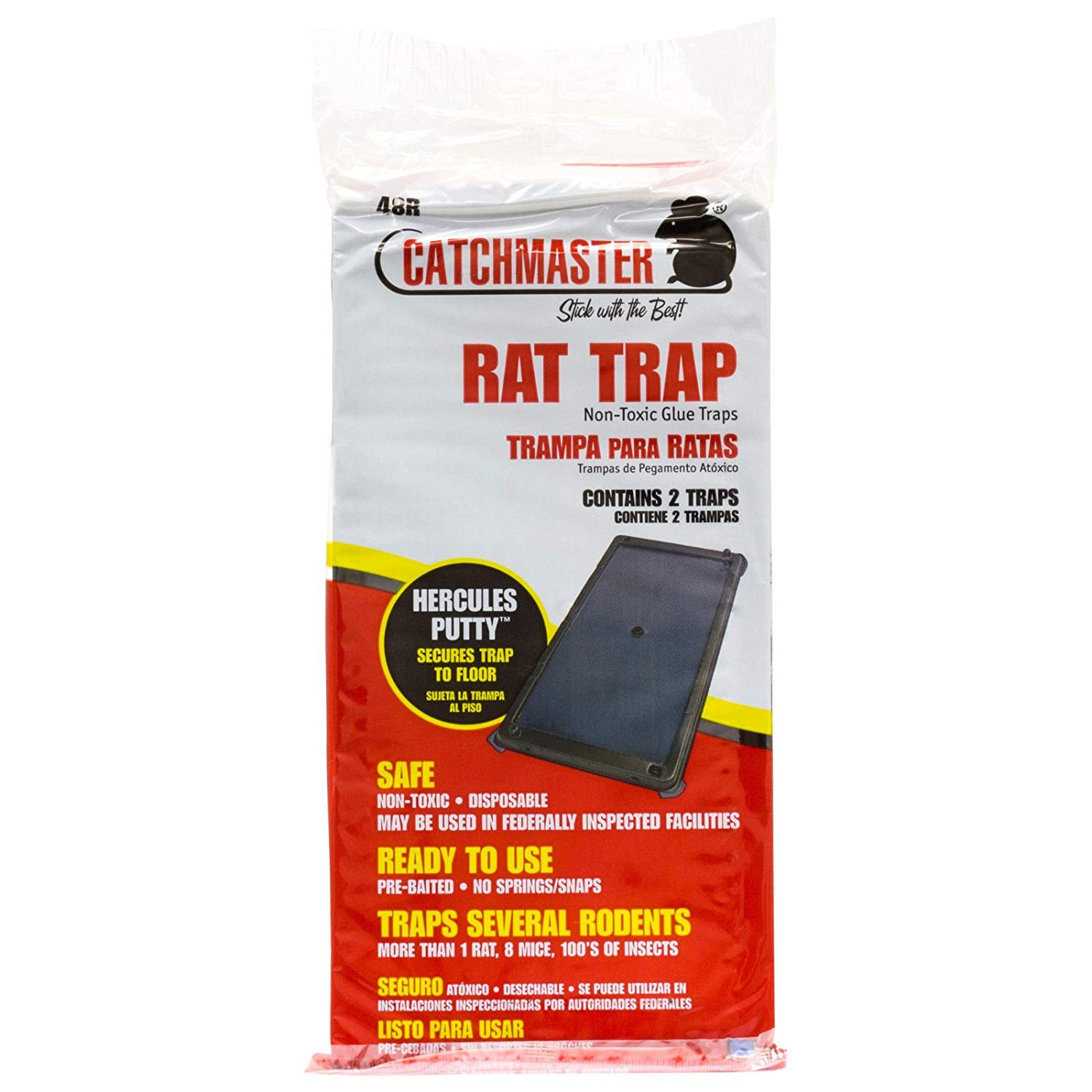 Rat Glue Boards 48 Pack Rats Snakes Mice Catchmaster 48r Deep Rat Glue Traps""