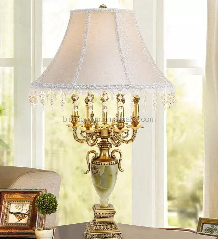 Table lamp lampshade brass with investment casting shell