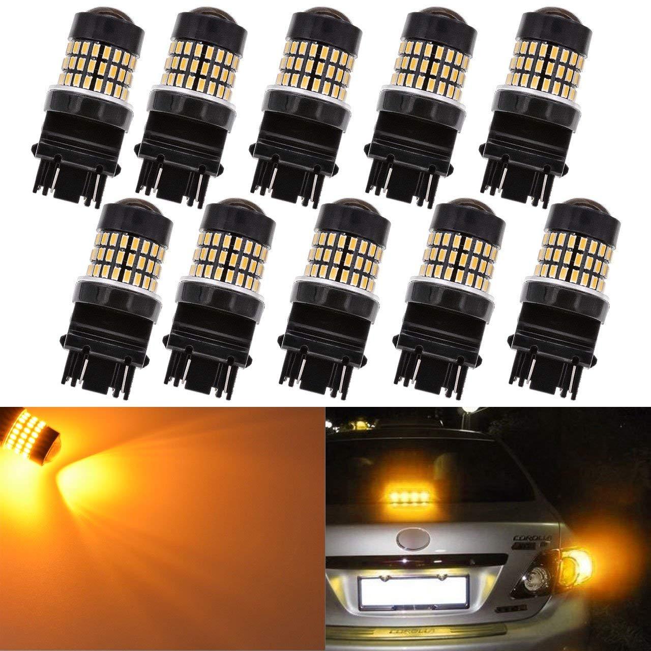 2pcs x 3157 Amber Parking Light 24 LED Light Bulbs 4157NA 3057A 3357-1 Pair