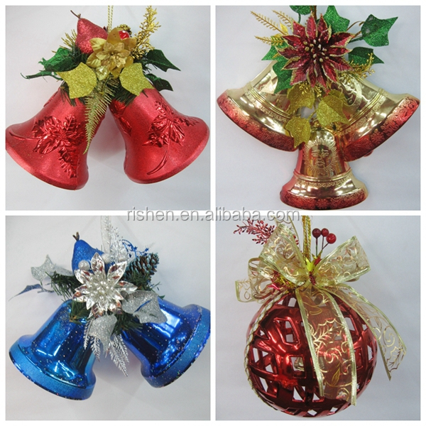 2015 Christmas Bell Decoration Gold Hanging Outdoor Jingle