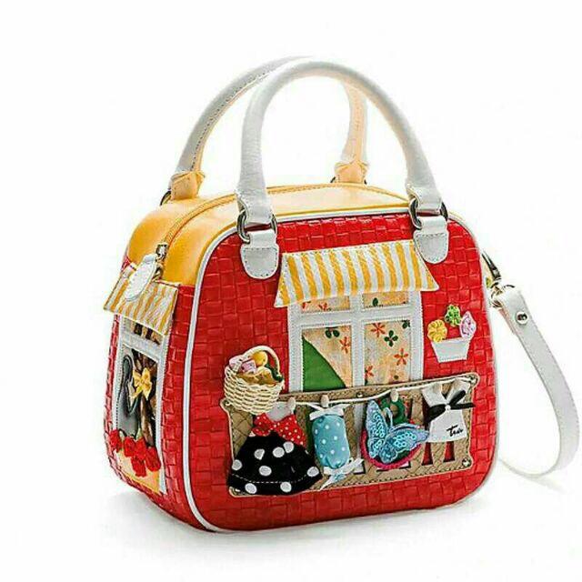 Borsa Braccialini Style Tottyblu Handicraft Handmade Women Handbag Tote Bag Crossbody Candy