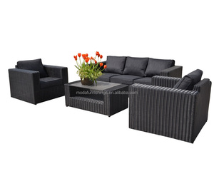4pcs Hot Sale Luxury Deep Seating Couch Patio Wicker Rattan Furniture Garden Outdoor Sofa Set