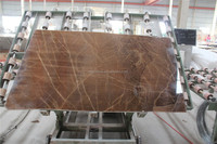 Pure brown golden rainforest brown marble onyx tiles