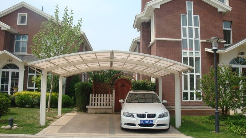 Prefab Carports Double : Prefab homes wood grain finished double carport buy
