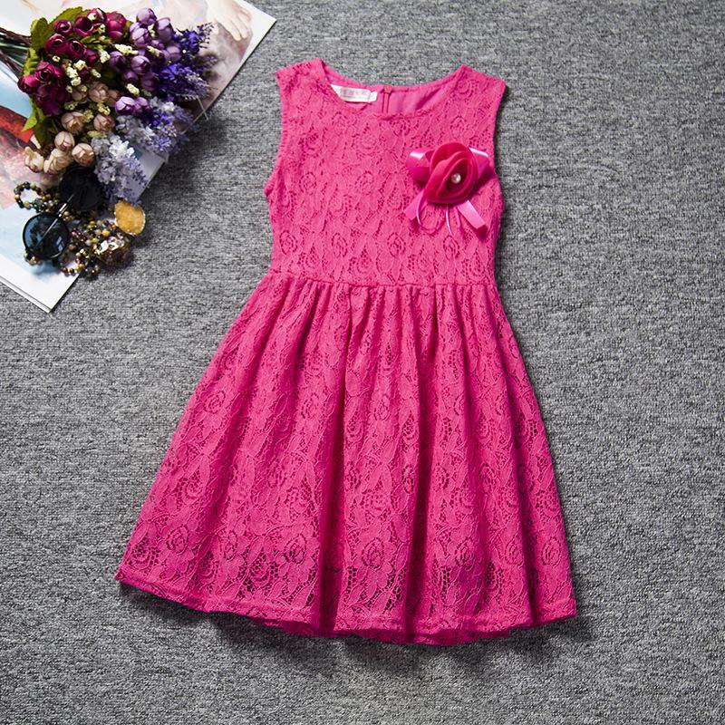 f8a4d471b ZH0468C 2016 ربيع جديد للأطفال اطفال بنات الزهور الجوف الرباط الأميرة حزب  فساتين حمراء كبيرة زهرة