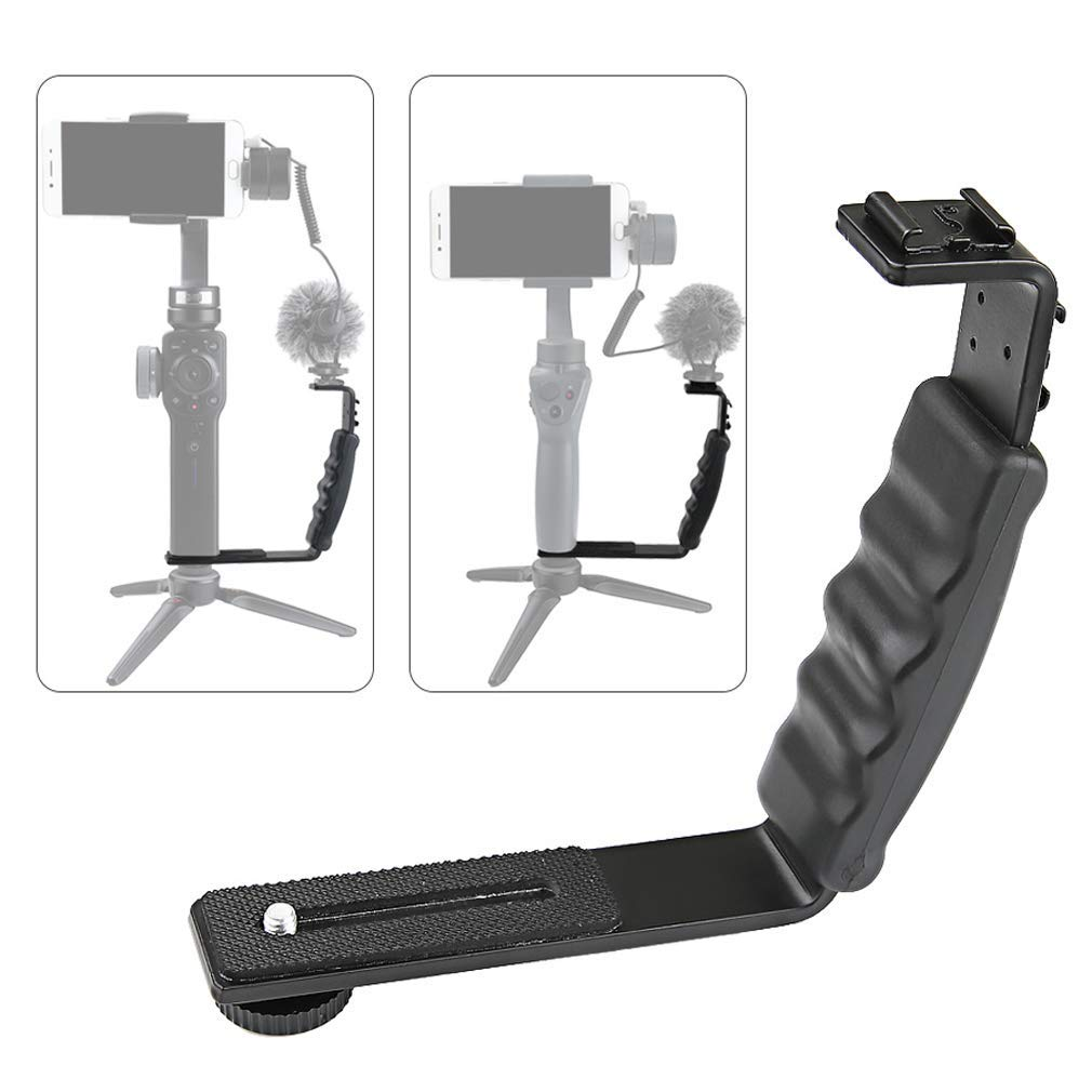 Tangren Aluminum Alloy Handheld Gimbal Extending External L-Bracket Mount Holder Stabilizer for DJI OSMO Mobile 2 Zhiyun Smooth 4