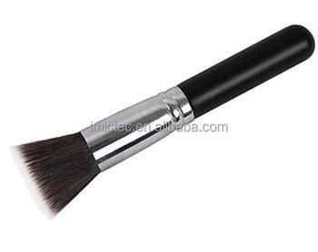 Foundation Makeup Brush Flat Top Kabuki Brush for Face Buffing, Stippling, Concealer - Premium Quality Synthetic Dense Bristles