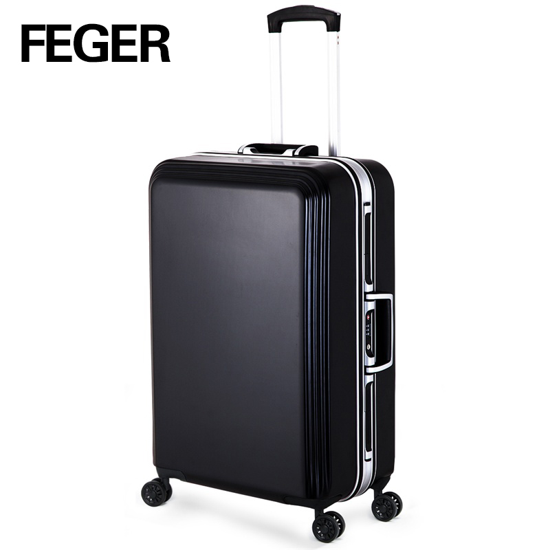 abs trolley travel luggage 4 wheels trolley case brand name suitcase