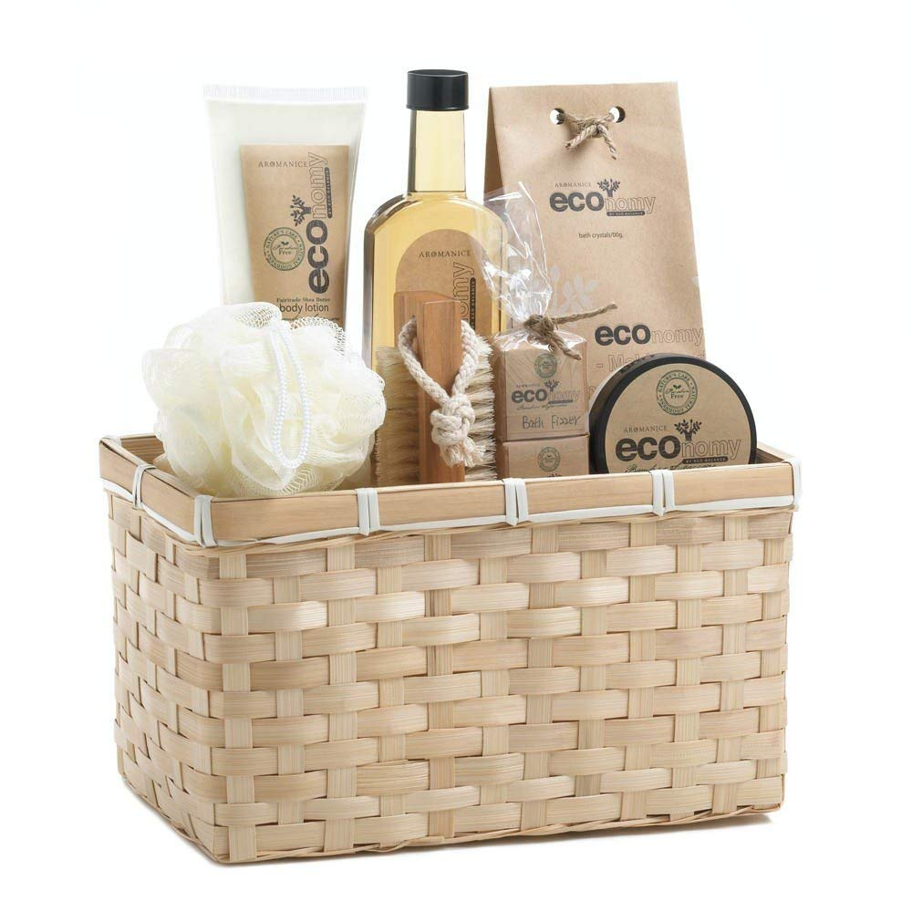 Get Quotations Bath Body Gift Set Best Holiday Birthday Baskets Women Bamboo Sugarcane