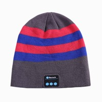 Winter Hat with Headphone Earphone Stereo Music Speaker Earmuffs Knitted Warm Hat for Women Bluetooth Hat