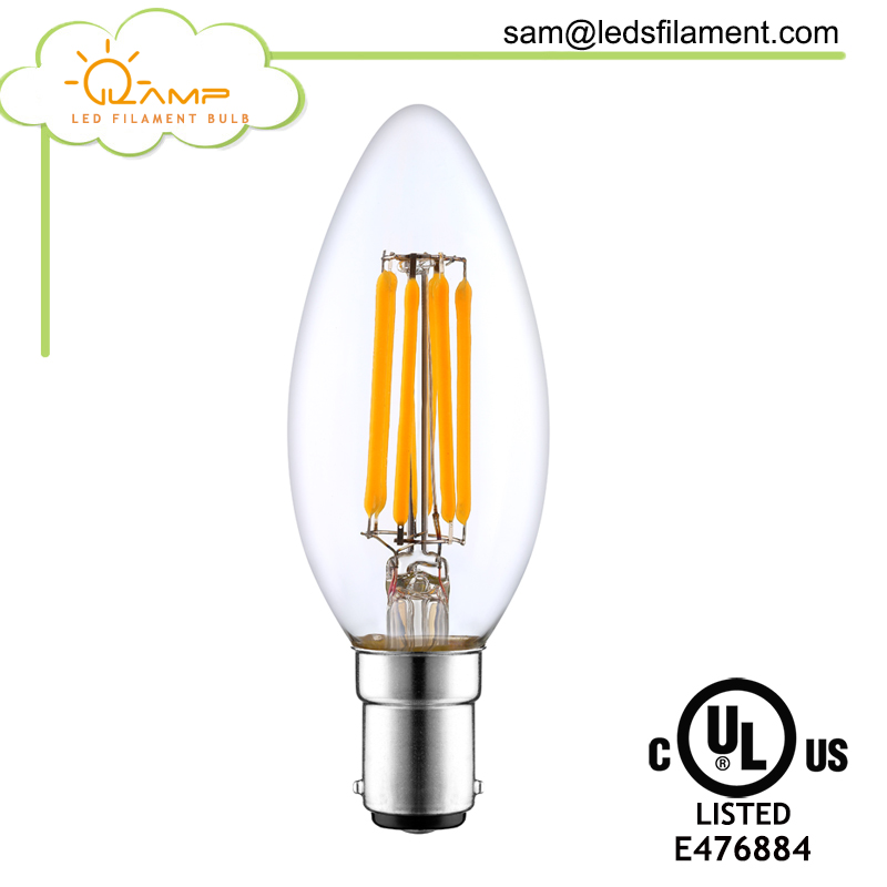 led c35 3w 4w 5w led candle light bulb bayonet b15 b22