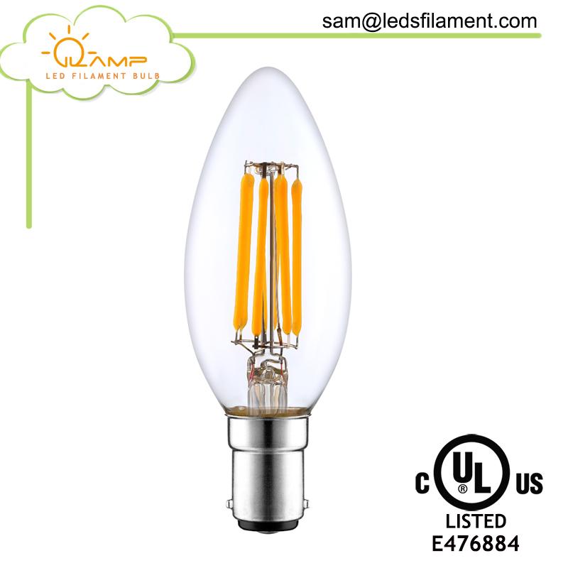 led c35 3w 4w 5w led candle light bulb bayonet b15 b22