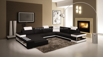 Corner Living Room Sofa Sectional Living Room Couch With LED Light