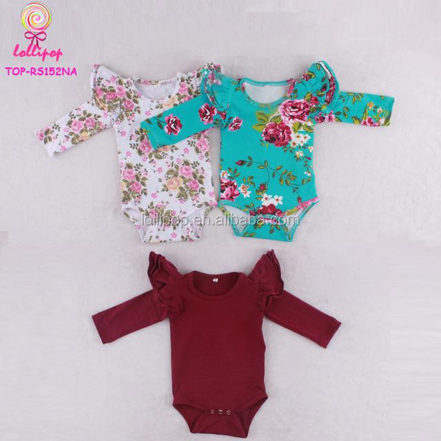 0216a86421db baby girl long sleeve onesies Yuanwenjun.com