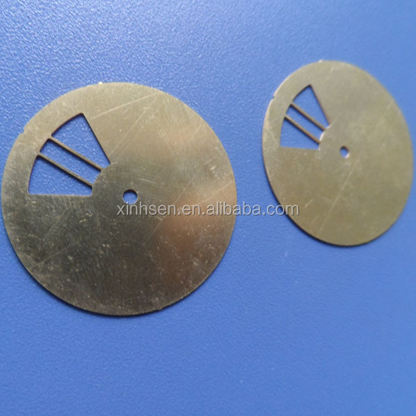 Precision etching metal shim plate brass shim for video camera lens