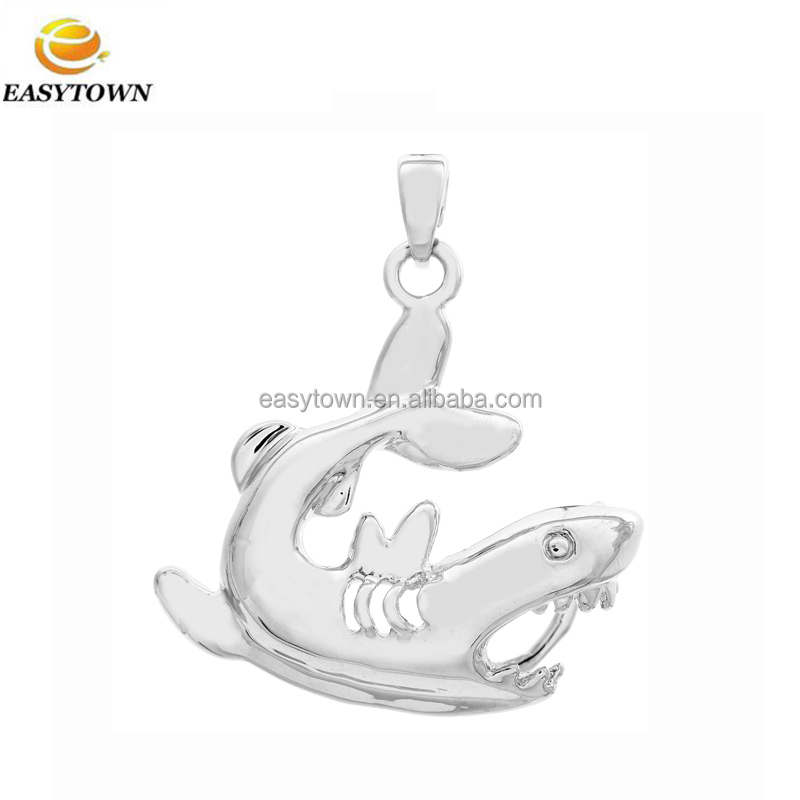 2017 hot new products fantastic pearl shark cage pendant for women necklace