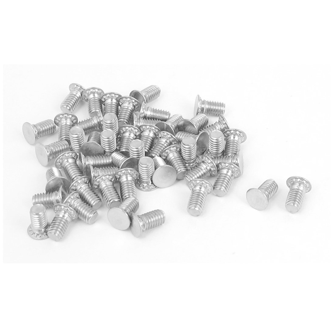 Uxcell a15101500ux0541 Self Clinching Studs M3x6mm Flush head Stainless steel Self Clinching Threaded Studs 50Pcs