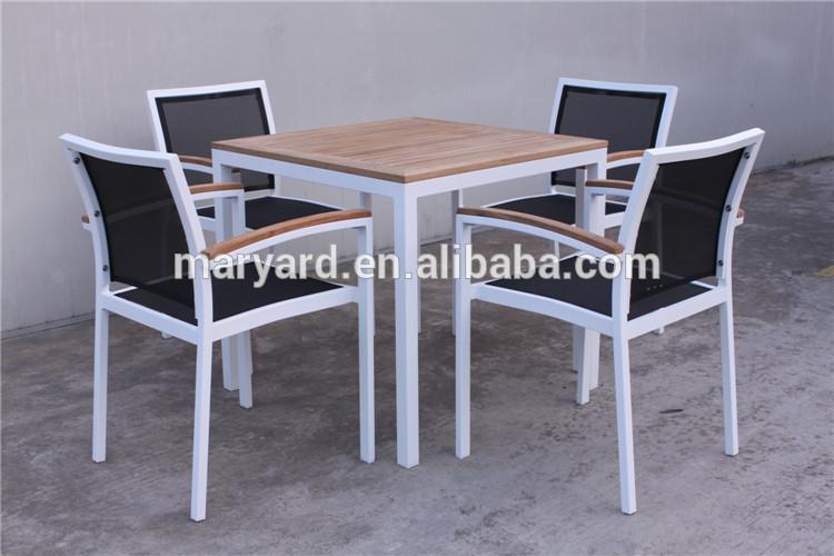 ALUMINIO JUEGO DE COMEDOR teca muebles de exterior de aluminio mesa ...