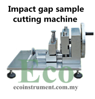 Impact gap sample cutting machine
