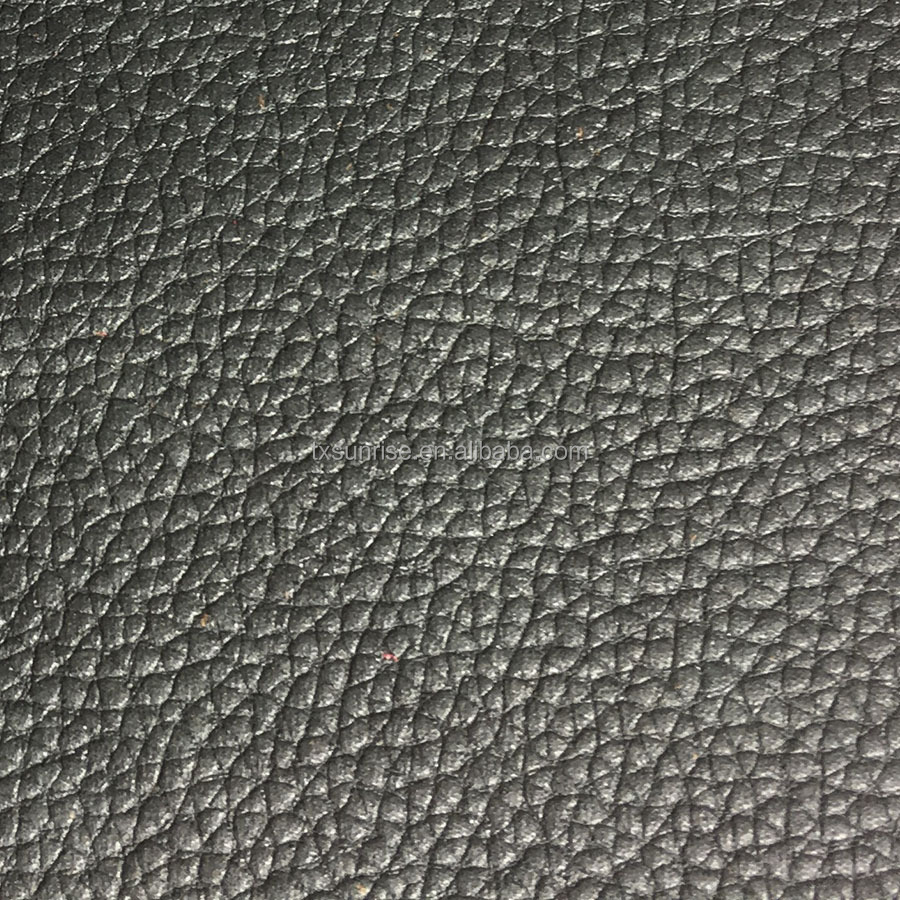 Embossed warp knitted fabric online, litchi grain leather bonded polar fleece fabric