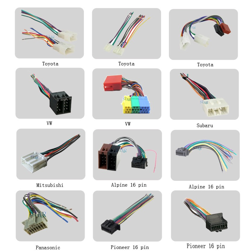 Car 42 Pin Stereo Wire Connector Plug - Buy Car 42 Pin Stereo Wire ...
