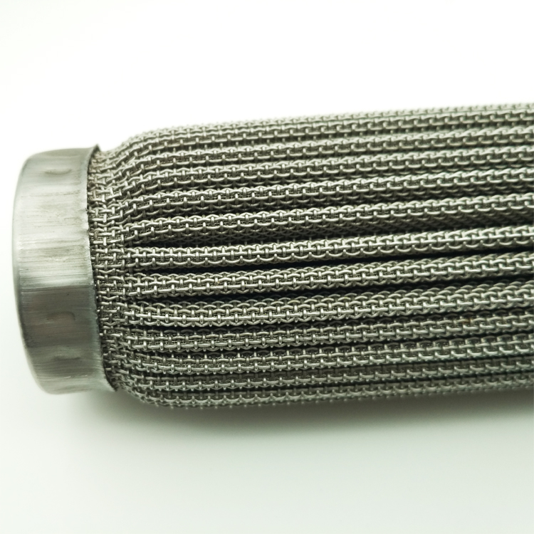 stainless steel sintered folding filter tube race car filter element wire mesh candle filter