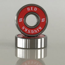 Red skateboard ball bearings for skateboard and spinner