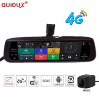 10 inch Android 5.1 Full Touch Screen Multifunction 4G 1080P Car DVR Rearview Mirror with Wifi hotspot