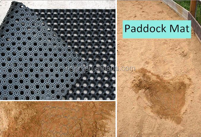 how to cut a rubber horse mat