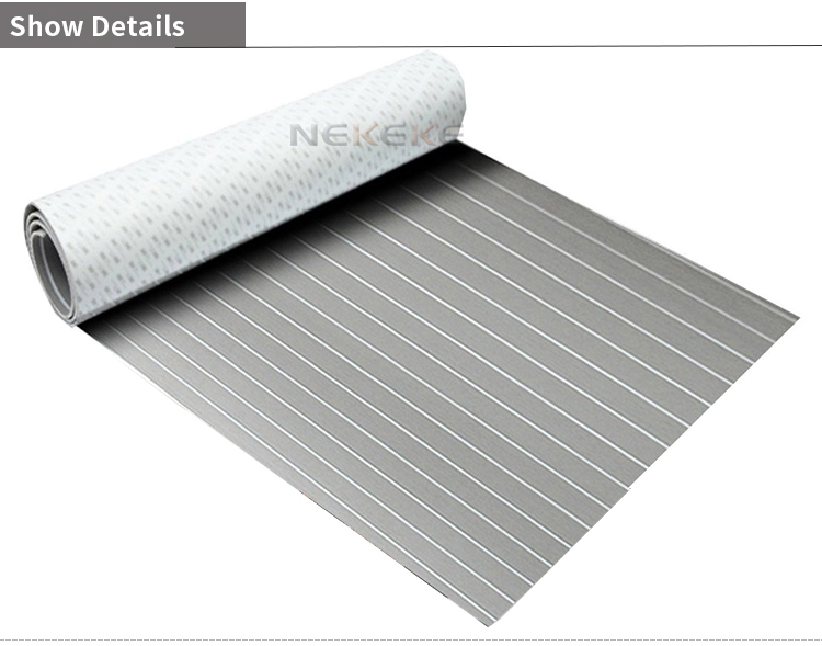 EVA Foam deck pad Faux Synthetic Teak Sheet Boat Yacht Decking Grey With White Lines