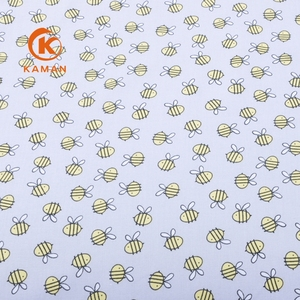 Fashion popular baby clothing cute design organic 100% cotton printed fabric