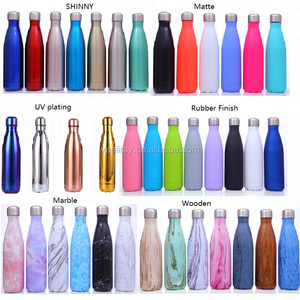 Double Walled stainless steel insulated water bottle 500ml hot insulation tumbler keeps drinks and cold long time