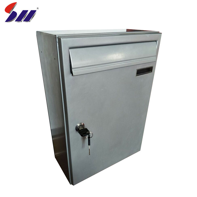 Wholesale waterproof heavy duty steel wall mounted apartment mailbox