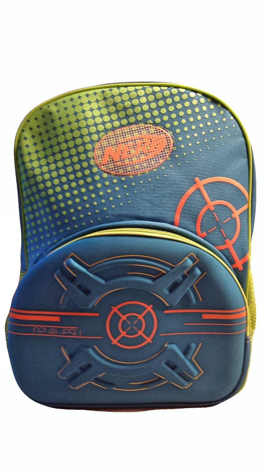 Nerf Target Practice Blue & Orange Deluxe Backpack