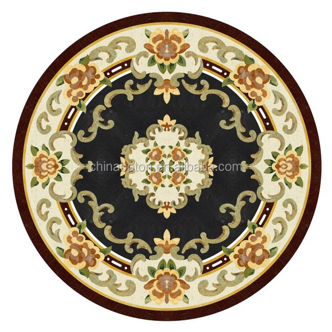Perfect cheap boutique import floor medallion waterjet cut marble,Lobby Marble Flooring Design