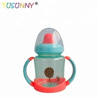 High quality Baby duck mouth drinking cup baby training water bottle