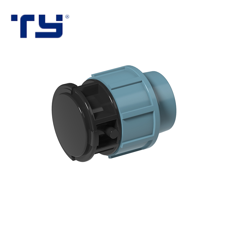 PP Tank Adapter Plastic HDPE Compression Fitting Blue Water Supply Plug Fitting