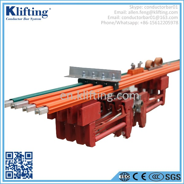 Overhead crane busbar system : Insulated crane busbar in high quality buy conductor bar