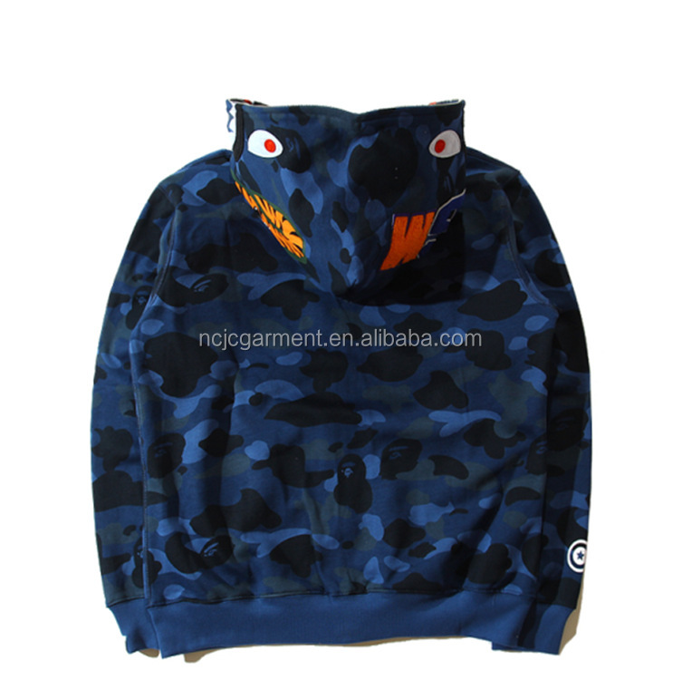 Full zipper-up jacket bright color monster printed jacket customized
