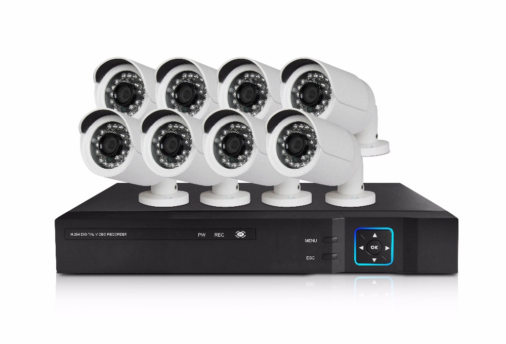 China suppliers CCTV Camera System Home Security 8CH 1080P AHD DVR Alarm Sensors bullet cctv ahd camera
