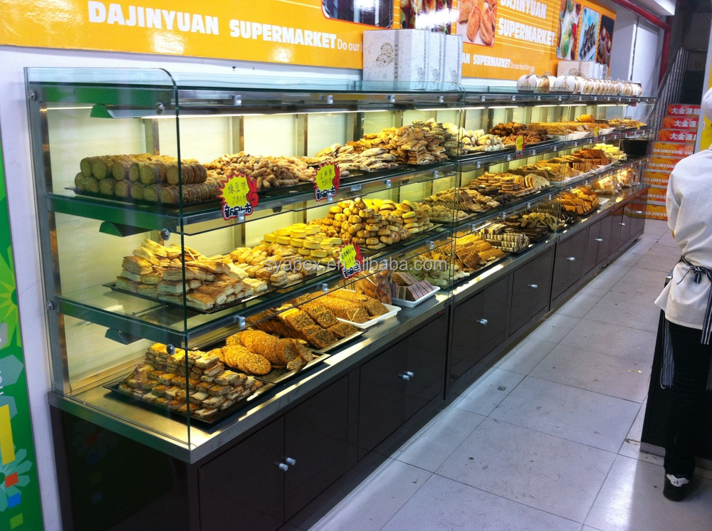Apex Supermarket/store Custom Make Single Side Glass Bakery ...