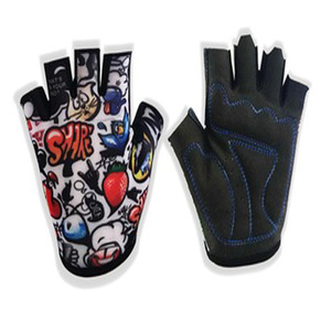 Kids sports racing mountain bike anti-slip bicycle gloves half fingers