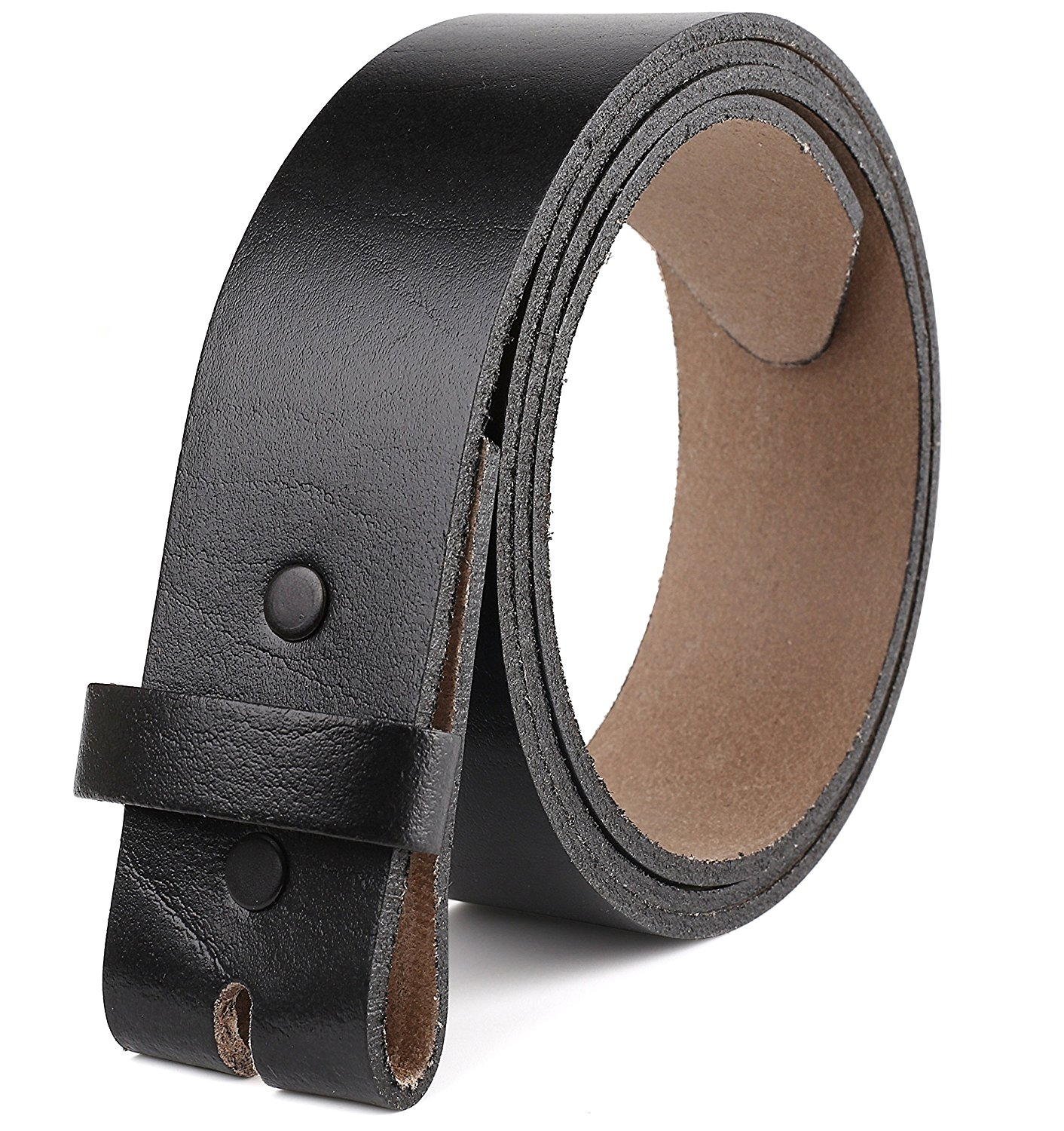 """Belt for Buckles 100% Top Grain One Piece Leather,up to Size 62, 1-1/2"""" Wide, Made in USA"""