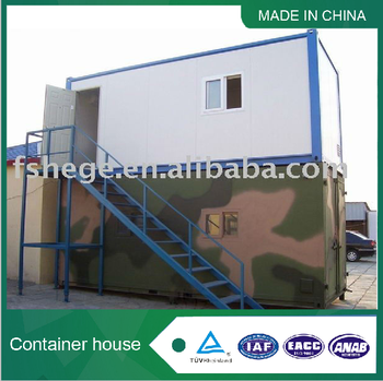 Living prefabricated steel frame container house
