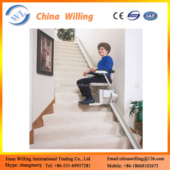 Inclined Electric Stair Climbing Seat Lift For Disabled Person - Buy ...