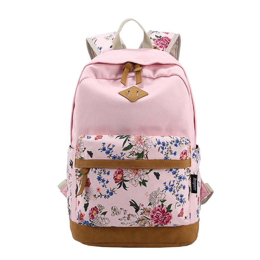 0fe2dc35b249 Get Quotations · Casual Style Lightweight Canvas Laptop Backpack Cute Travel  School College Shoulder Bag Bookbags Daypack