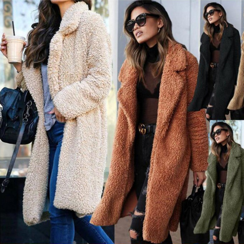 Wholesale Latest New <strong>Fashion</strong> Design Women Wool Casual <strong>Winter</strong> Faux Fur <strong>Coat</strong>