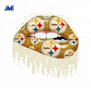 Rhinestone Heat Transfer Printing Steelers lips love glitter vinyl heat transfers