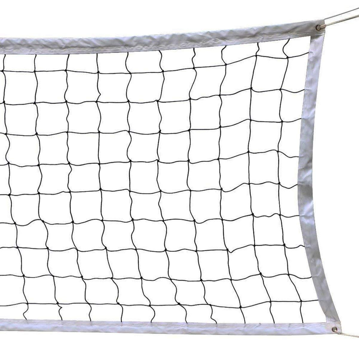 DHAO Volleyball Net Portable Sports Net for Volleyball Tennis Badminton at Beach Swimming Pool Garden Schoolyard Backyard Indoor and Outdoor Games Net(32 FT x 3 FT)